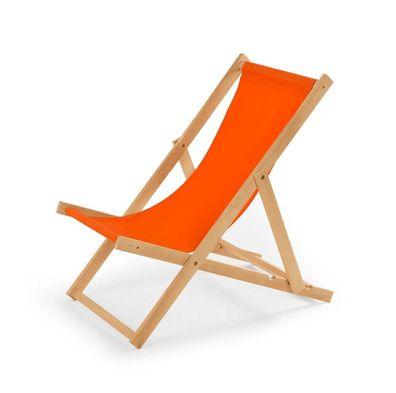 """Holz Sonnenliege Strandliege /""""Liegestuhl/"""" aus Holz  ROT mit Armauflagen"""