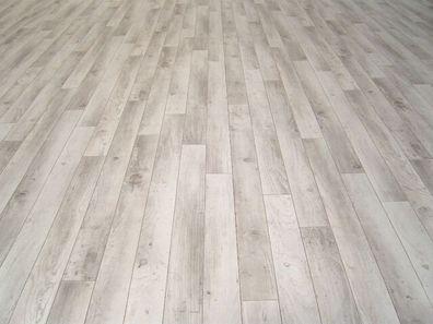 PVC Bodenbelag Holz-Optik Planken mit Schriftzügen braun 300 cm Breite 9,95 €//qm