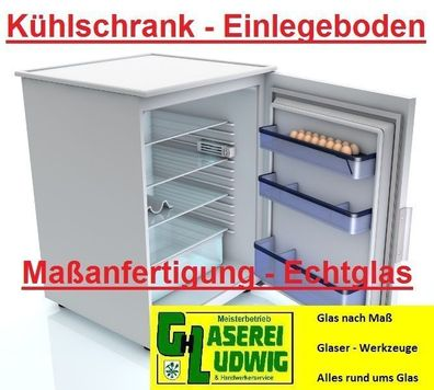 Gemüsefach Glasplatte Kühlschrankplatte Einlegeboden Glas 6-7 mm Wunsch Maß