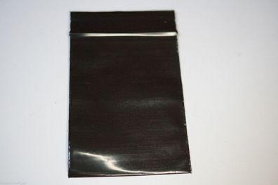 50µ Schnellverschlußbeutel schwarz 100 Stück 40x40mm
