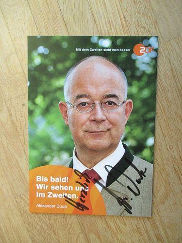 Alexander Duda AK ZDF Die Rosenheim-Cops Autogrammkarte original signiert