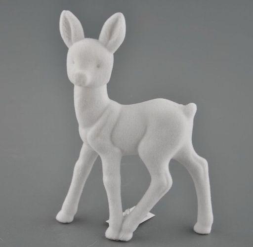 Bambi Soft Fur stehend mit flauschiger Oberfläche 23x6x16cm Farbe pink Deko
