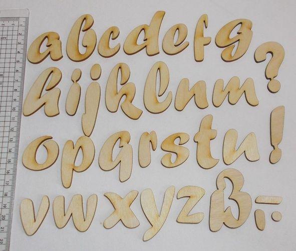 Holzbuchstabe Forte 5cm große u kleine Buchstaben Rohling A-Z Holz  Kinderzimmer