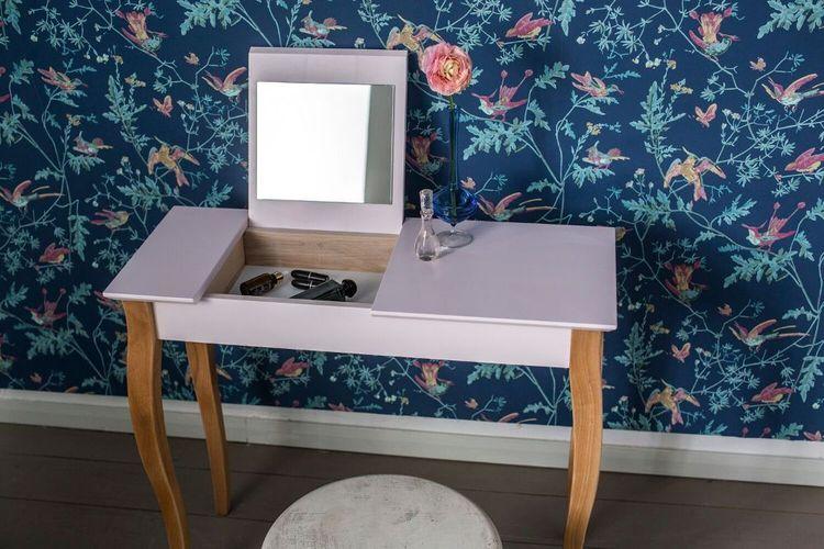 8 Farben Schminktisch Kosmetiktisch Konsolentisch mit Spiegel Ragaba 65 cm