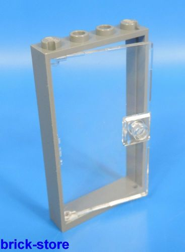 2629 Lego Tür 1x4x6 new Dunkelgrau mit Transparenter Tür