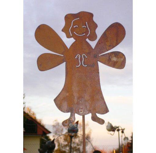 WEIHNACHTSENGEL 23x30cm Gartenstecker Engel Rost Edelrost Weihnachten Deko