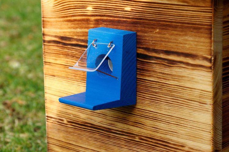Hummelklappe Wachsmottensperre  für Hummelkasten//Hummelhaus Handarbeit Orange 25
