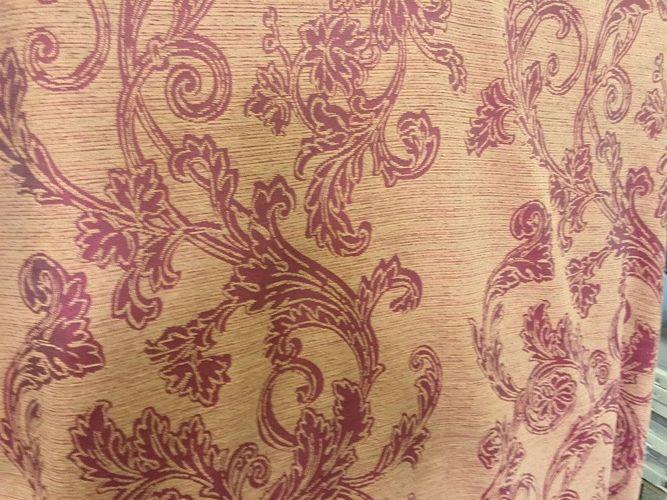 DesignerStoff Ziegelfarbe Jaquard Ornament 100/% Baumwolle Stoff Struktur