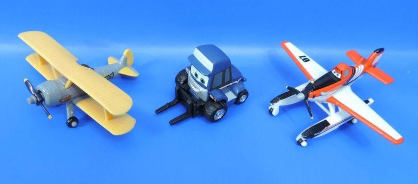 Mattel Disney Planes 2//3er Set//Leadbottom Firefighter Dusty Maru