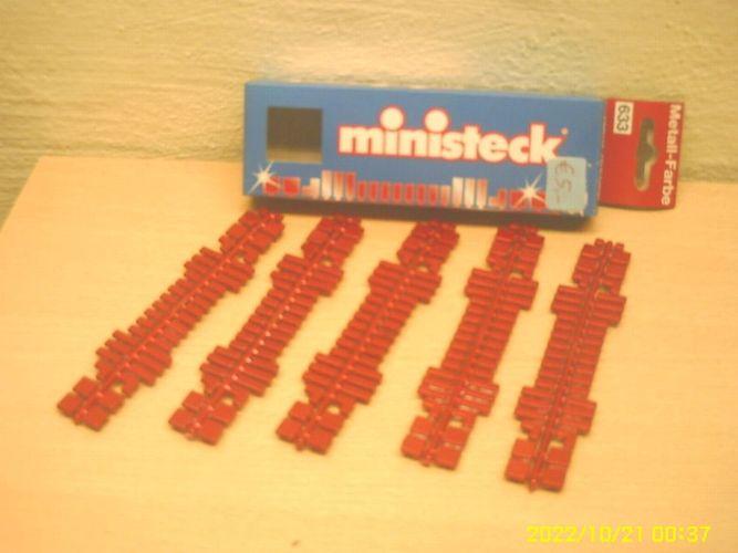 ministeck 633 Farbstreifen rot metallic