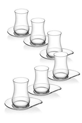 LAV Gülin Türkische Teegläser Set  12 tlg 6 Personen Teeglas Cay Bardagi