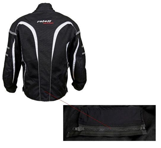 ROLEFF RACEWEAR RO607 kurze Mesh Sommer Motorradjacke schwarz; Gr/ö/ße 3XL