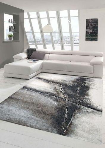 Designer Teppich Moderner Teppich Wohnzimmer Teppich Barock Design in Braun  Beige Cre