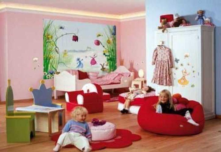 Fototapete Kindertapete Elfenwiese Princess 254x184 Kinderzimmer Tapete  Mädchen