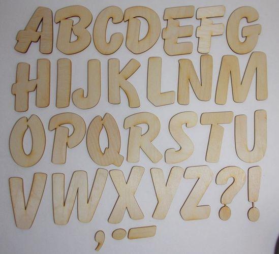 Holzbuchstaben mit freier Mengenwahl 12cm aus Holz, Buchstaben, Kinderzimmer