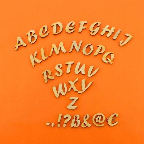 Buchstaben aus Holz Kinderzimmer Basteln ABC Türschild Namensschild 21mm  Forte