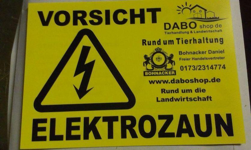 Warnschild Hinweisschild Vorsicht Elektrozaun 200 x 140 Achtung Stromschlag