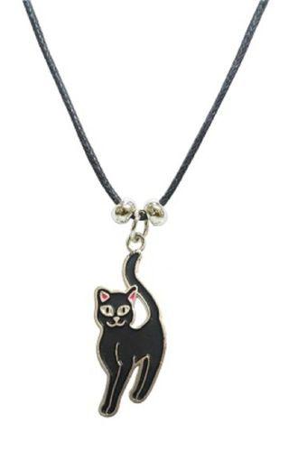 1 Kette Wolf Katze Dino Tier Emaille Anhänger Modeschmuck Ketten emailliert Schmuck