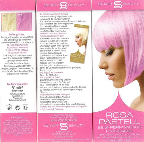 Smart Beauty Rosa Pastell Semi Permanente Haarfarbe 50 Ml