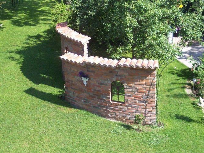 Mönch Nonne Halbschale Dachziegel aus Ton 1 Stk Model Altkastilien