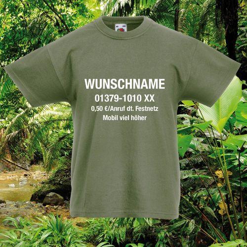 Karneval Fun-Shirt Kids Dschungelcamp Kinder T-Shirt Dschungel Fasching