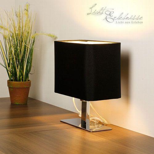 Tischleuchte in schwarz H23cm inkl. 3W LED Modern Schlafzimmer Lampe innen