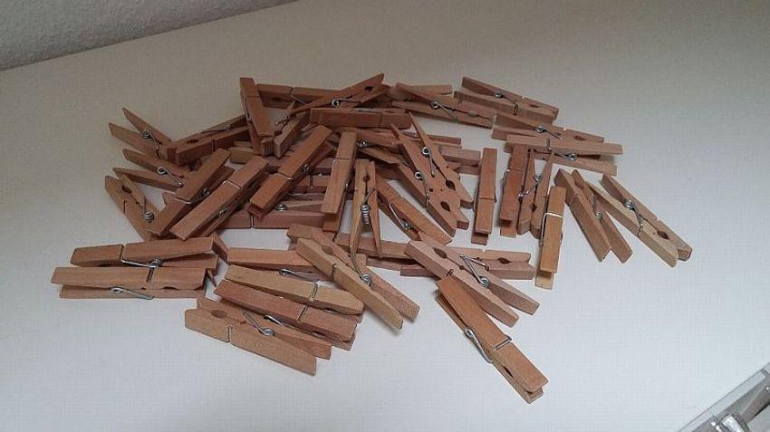 Wäscheklammern Aus Holz Holzklammern Zum Basteln