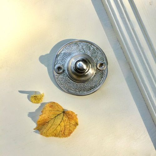 Haustür Klingel Nickel matt Quadratisch