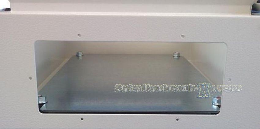 Schaltschrank 600x600x200 mm 1-türig hellgrau 7035 IP66 Stahl Blech