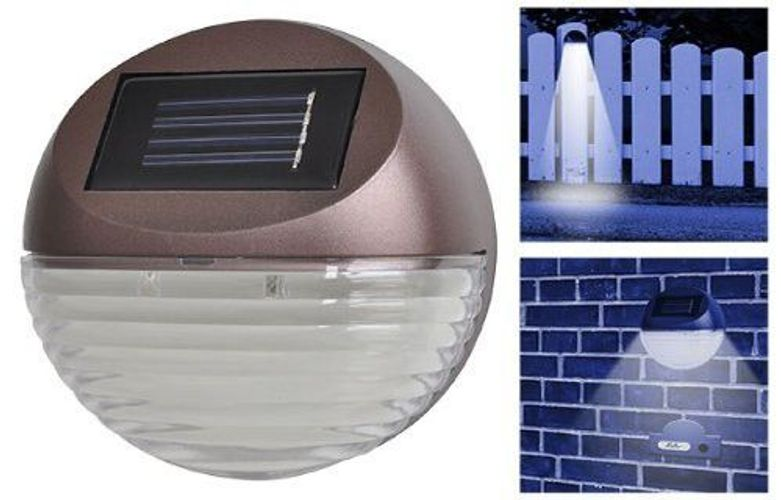 Solar Solarleuchte Solarstrahler 4 LED Solarlampen wetterfest Dämmerungssensor