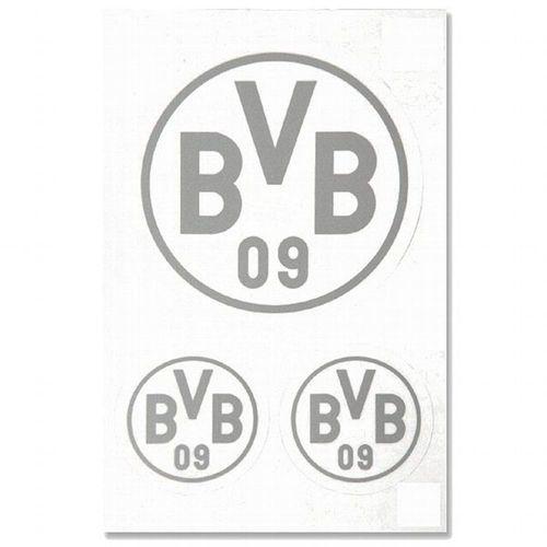 Bvb Borussia Dortmund Aufkleber Logo 3er Set Autoaufkleber Sticker Silber Kaufen Bei Hood De