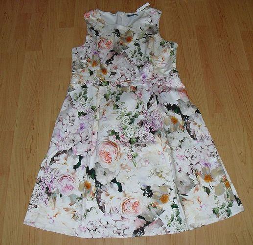 P&C Montego Damen Kleid Blumenmuster Gr 42 Neu