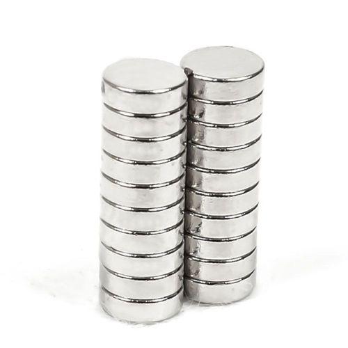 Neodym Magnete 5 x 2 mm Supermagnete hohe Haftkraft Scheibenmagnet N35-5 Stück