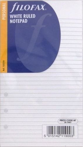 Filofax Personal LINIERT Notizpapier Refill Einlage 20 Blatt A6 Organiser 133008