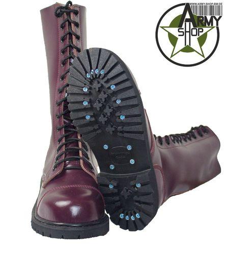 14 Loch Ranger Boots Kampfstiefel Springer Stiefel Rangers Bordeaux Rot Weinrot