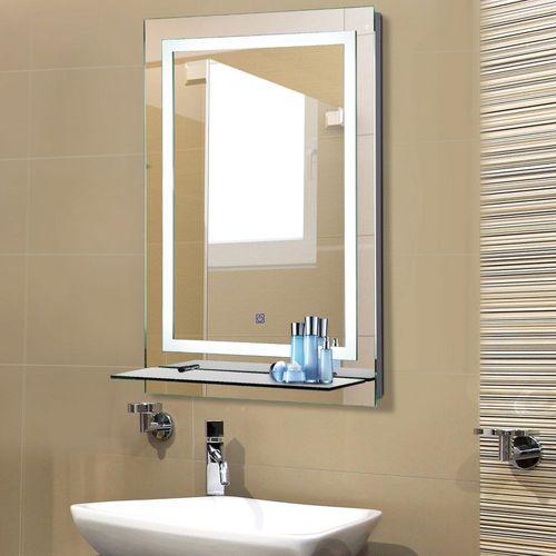 Badezimmerspiegel Mit Beleuchtung Und Ablage.Kleankin Led Badspiegel Badezimmerspiegel Mit Beleuchtung Glas Ablage 38w 70x50cm Kaufen Bei Hood De