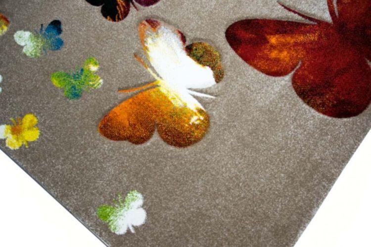 Kinderteppich Spielteppich Kinderzimmer Teppich Schmetterling Design mit  Konturenschn