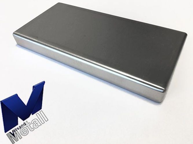 Edelstahlwanne R1 geschweißt Edelstahl 1,5mm Breite 400mm Außen Schliff K320