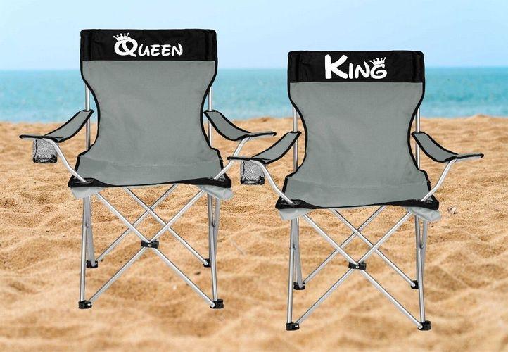 Campingstuhl Klappstuhl King /& Queen Pärchen verliebt