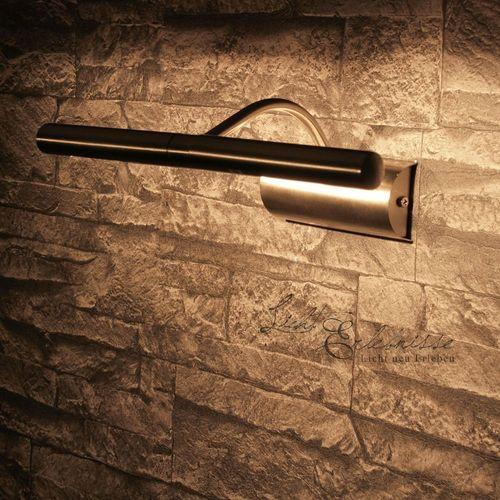 Bilderleuchte Chrom matt L:30cm 2xG9  Spiegel Wohnzimmer Bilder Wand Lampe