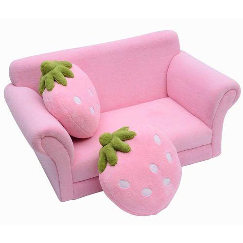 Homcom® Kindersofa Kindersessel Sofa Couch Kinder Kinderzimmer Doppelsofa  Erdbeersofa