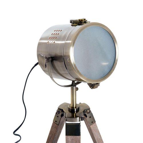 Tischleuchte Scheinwerfer Stehlampe Tripodlampe E14 Retroleuchte Dreibein