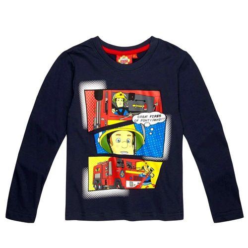 Jungen Langarm Shirt SamGröße 98-128Feuerwehrmann SamKinder Shirt