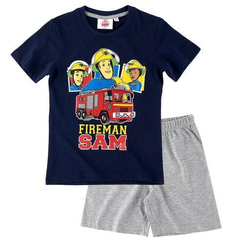 Schlafanzug KurzFeuerwehrmann SamGröße 92-140Kinder Shorty Pyjama
