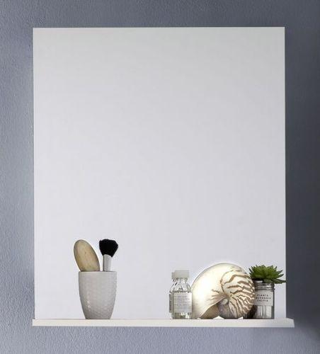 Badezimmer Bad Spiegel 60 Cm Weiß Hochglanz Lack Mit Ablage Wandspiegel Intenso