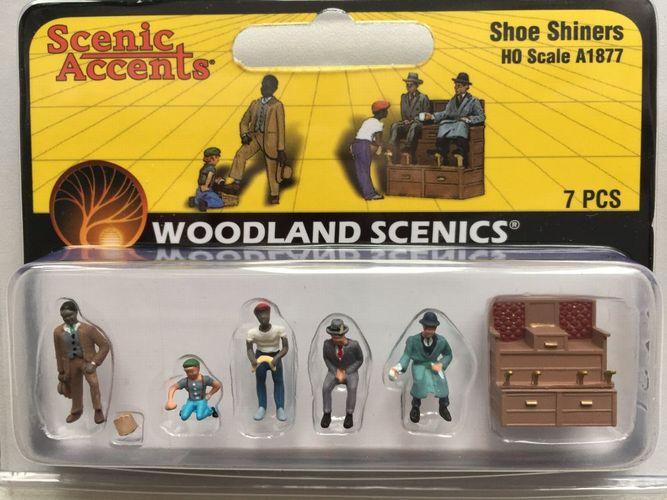 1:87 Woodland Scenics A1877 Schuhputzer Figuren Miniaturwelten H0