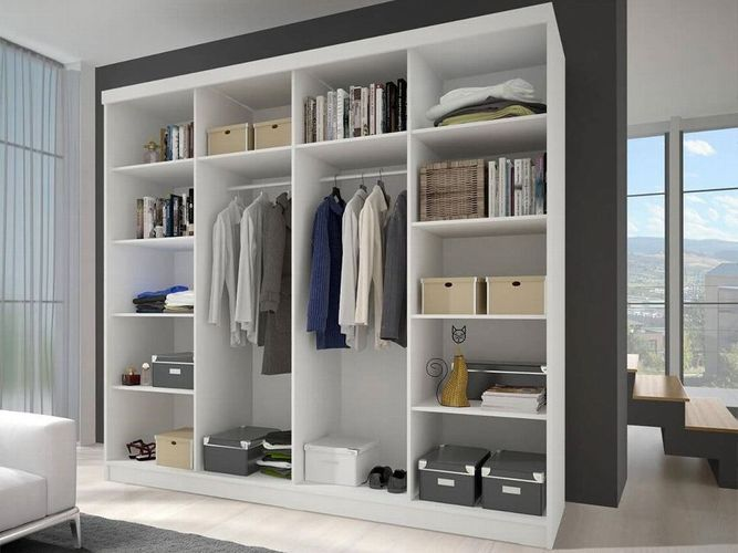 Kleiderschrank Multi 13 Schiebetürenschrank Schrank Schlafzimmer Spiegel  233 cm