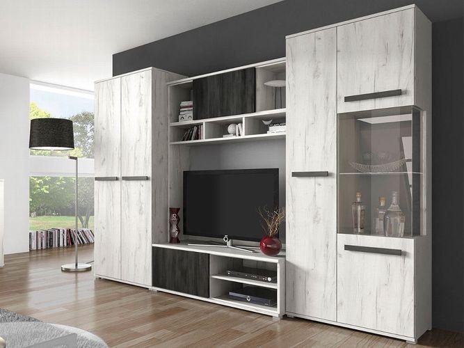 Wohnwand Viva Tv Lowboard Kommode Anbauwand Vitrine Wohnzimmer Modern Design Kaufen Bei Hood De