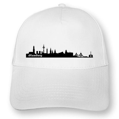 Hamburg Stadtskyline Kappe Baseballcap Mütze Myrtle Beach  8 Farben One Size
