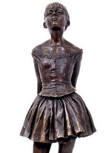 Skandal Gjord av Krypa  BRONZE Ballerina KLEINE Tänzerin FIGUR nach E. DEGAS BRONZE Skulptur  Ballett TANZ kaufen bei Hood.de